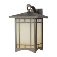 Feiss August Moon 1 Light Outdoor Wall Lantern in Corinthian Bronze OL5303CB-F