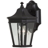 Cotswold Lane 1 Light 12 inch Black Outdoor Wall Sconce in Standard