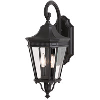 Feiss Cotswold Lane 2 Light Outdoor Wall Sconce in Black OL5401BK
