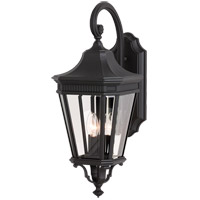 Cotswold Lane 3 Light 24 inch Black Outdoor Wall Sconce in Standard