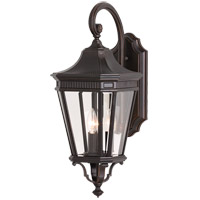 Cotswold Lane 3 Light 24 inch Grecian Bronze Outdoor Wall Sconce in Standard