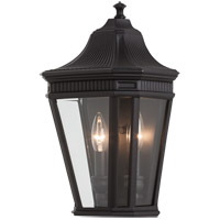 Cotswold Lane 2 Light 16 inch Black Outdoor Wall Sconce in Standard