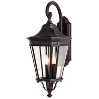 Cotswold Lane 3 Light 30 inch Grecian Bronze Outdoor Wall Sconce in Standard