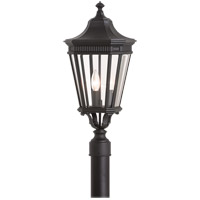 Cotswold Lane 3 Light 23 inch Black Post Lantern in Standard