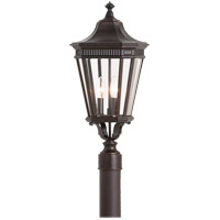 Cotswold Lane 3 Light 23 inch Grecian Bronze Post Lantern in Standard
