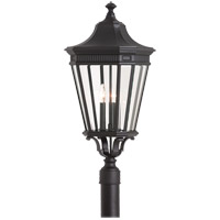 Cotswold Lane 3 Light 28 inch Black Post Lantern in Standard