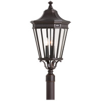 Cotswold Lane 3 Light 28 inch Grecian Bronze Post Lantern in Standard
