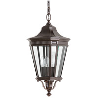 Cotswold Lane 3 Light 10 inch Grecian Bronze Outdoor Hanging Lantern in Standard