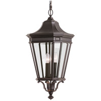 Cotswold Lane 3 Light 12 inch Grecian Bronze Outdoor Hanging Lantern in Standard