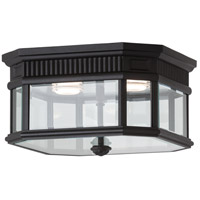 Cotswold Lane LED 12 inch Black Outdoor Flush Mount in Integrated LED