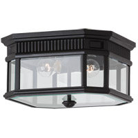 Feiss OL5413BK Cotswold Lane 2 Light 12 inch Black Outdoor Flush Mount