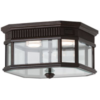 Cotswold Lane LED 12 inch Grecian Bronze Outdoor Flush Mount in Integrated LED