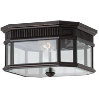 Feiss Cotswold Lane 2 Light Outdoor Flush Mount in Grecian Bronze OL5413GBZ