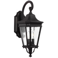 Cotswold Lane 2 Light 21 inch Black Outdoor Wall Lantern
