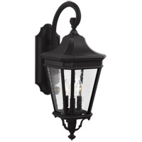 Feiss OL5422BK Cotswold Lane 3 Light 24 inch Black Outdoor Wall Lantern