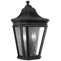 Cotswold Lane 2 Light 16 inch Black Outdoor Wall Lantern