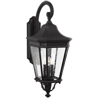Feiss OL5424BK Cotswold Lane 3 Light 30 inch Black Outdoor Wall Lantern