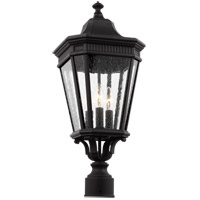 Cotswold Lane 3 Light 23 inch Black Outdoor Post Lantern