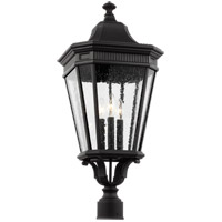 Cotswold Lane 3 Light 28 inch Black Outdoor Post Lantern