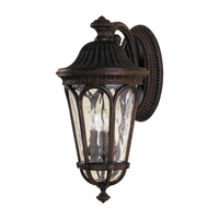 Regent Court 3 Light 21 inch Walnut Outdoor Wall Sconce