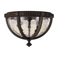 Regent Court 2 Light 11 inch Walnut Outdoor Flush Mount