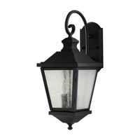 Woodside Hills 2 Light 20 inch Black Outdoor Wall Sconce