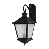 Woodside Hills 3 Light 23 inch Black Outdoor Wall Sconce