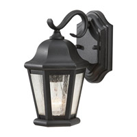 Feiss Martinsville 1 Light Outdoor Wall Lantern in Black OL5900BK-F