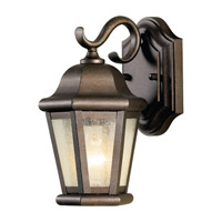 Martinsville 1 Light 11 inch Corinthian Bronze Outdoor Wall Lantern in Fluorescent