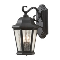 Martinsville 2 Light 15 inch Black Outdoor Wall Sconce