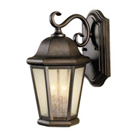 Martinsville 2 Light 15 inch Corinthian Bronze Outdoor Wall Sconce