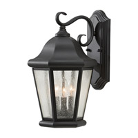 Martinsville 3 Light 17 inch Black Outdoor Wall Sconce