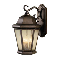Martinsville 3 Light 17 inch Corinthian Bronze Outdoor Wall Sconce