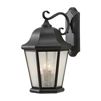 Martinsville 4 Light 20 inch Black Outdoor Wall Sconce