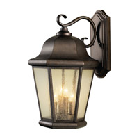 Martinsville 4 Light 20 inch Corinthian Bronze Outdoor Wall Sconce