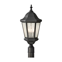 Martinsville 3 Light 22 inch Black Post Lantern