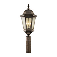 Martinsville 3 Light 22 inch Corinthian Bronze Post Lantern