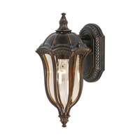 Feiss Baton Rouge 1 Light Outdoor Wall Lantern in Walnut OL6001WAL-LED