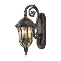 Baton Rouge 3 Light 23 inch Walnut Outdoor Wall Sconce