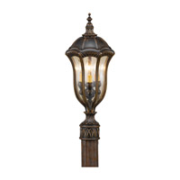 Baton Rouge 3 Light 22 inch Walnut Post Lantern