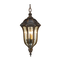 Feiss Baton Rouge 4 Light Outdoor Hanging Lantern in Walnut OL6012WAL