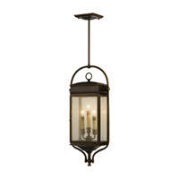 Whitaker 3 Light 6 inch Astral Bronze Outdoor Hanging Lantern