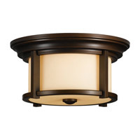 Merrill 2 Light 13 inch Heritage Bronze Outdoor Flush Mount in Standard