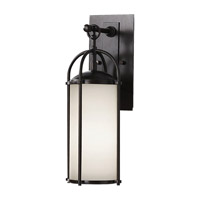 Dakota 1 Light 17 inch Espresso Outdoor Wall Sconce in Standard, Aged Oak Glass