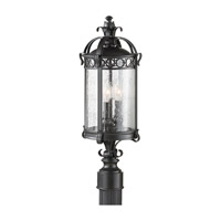 Feiss Chancellor 2 Light Post Lantern in Black Sable OL7807BSB photo thumbnail