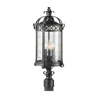 Feiss Chancellor 3 Light Post Lantern in Black Sable OL7808BSB photo thumbnail