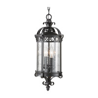Feiss Chancellor 2 Light Outdoor Hanging Lantern in Black Sable OL7811BSB photo thumbnail