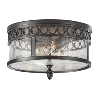 Feiss Chancellor 2 Light Outdoor Flush Mount in Black Sable OL7813BSB photo thumbnail
