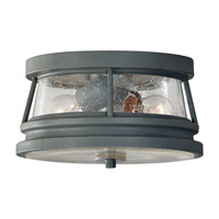 Chelsea Harbor 2 Light 11 inch Storm Cloud Outdoor Flush Mount