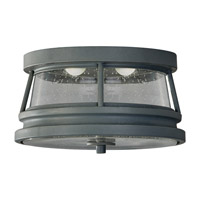 Feiss Chelsea Harbor 2 Light Outdoor Flush Mount in Storm Cloud OL8213STC